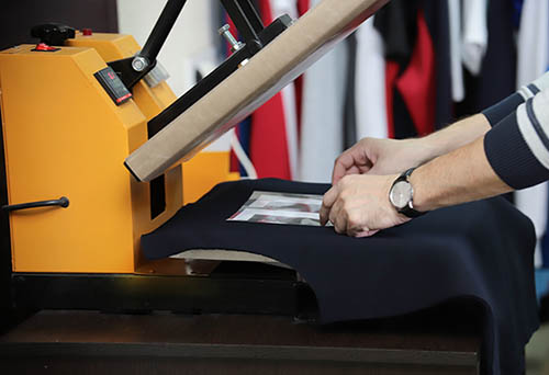 Pressing image onto a t shirt